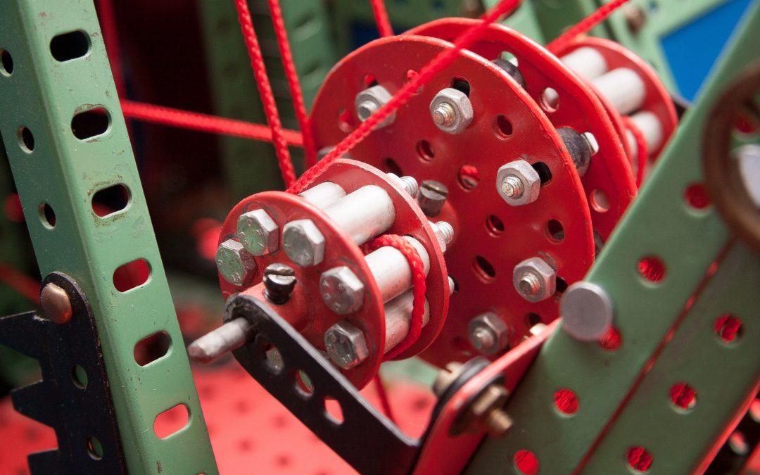 Der Merkur Baukasten hat in der Technischen Nationalbibliothek einen Ehrenplatz erhalten – er hat einen eigenen Spielraum